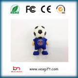 Venta caliente del Regalo Promocional Frence Hombre Fútbol 3D PVC personalizada unidad Flash USB Pen Drive