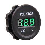 Voltagem do diâmetro do voltímetro de 12-24 V DC à prova d'água