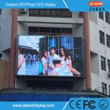 Tela video fixa ao ar livre da parede do diodo emissor de luz P5 para o quadro de avisos