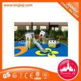 Equipamento material ao ar livre pré-escolar do campo de jogos do aço de madeira e inoxidável