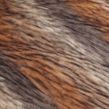 Franco del mackintosh della pelliccia di falsificazione della pelliccia del Faux della pelliccia della pelliccia artificiale del mucchio di tessuto lungo della pelliccia