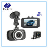 Lente de câmara dupla Full HD Mini WiFi com carro DVR