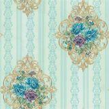 Preiswerte Damast-Blume weißes Wallcovering mit Tapeten-Puder
