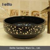 Черная керамическая раковина руки мытья (C1048)