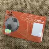 Clear Plastic Membership Gift ID Cartão magnético Forsted PVC