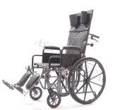 Manaul d'acciaio, adagiantesi, sedia a rotelle, cuoio, (YJ-011F)