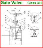 600lb de Van een flens voorzien Klep uit gegoten staal van de Poort van het Eind (GAZ40W)