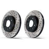 Rotors de frein peints par noir de véhicules passagers solides