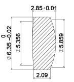 Lente de cristal Danpon colimador lente asférica de cristal de la lente de enfoque
