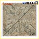 400X400mmの木デザイン(4D81)の無作法な床タイルの建築材料
