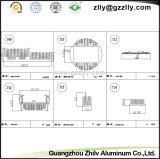 Disipador térmico de aluminio de fundición de aluminio anodizado diferentes