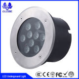 Al aire libre de cambio de color de baja tensión de las luces de LED redonda de 12W de iluminación de Metro