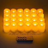 La mini plastica poco costosa su ordinazione illumina in su la candela, l'indicatore luminoso della candela della batteria LED, indicatore luminoso bianco del tè della fiamma LED