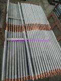 Tubo de aleta de aluminio, tubo de aleta del acero inoxidable/tubo aletado para el cambiador de calor, refrigerador de aire, tubo sacado compuesto del tubo de aleta de Serreted