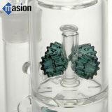 Tubo de água de vidro do tubo de fumar com engrenagens Perc (AY006)