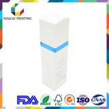 Caixa de cosméticos dobrável de alta qualidade para produtos de cuidados da pele com logotipo em relevo Sliver