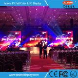 Publicidad de la visualización de LED a todo color de interior de la tarjeta de control del alquiler P5