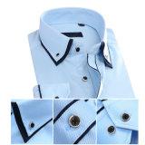 Dell'ultimo cotone eccellente del cotone del tasto camicia convenzionale del Mens giù