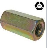 La norme DIN 6334 long en acier au carbone des écrous de raccord hexagonal avec zinc jaune