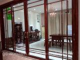 Portello scorrevole di alluminio del grano di legno di Foshan Woodwin con doppio vetro Tempered