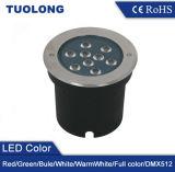 Round 9W LED DE LUZ EMPOTRADA LED de iluminación de jardín