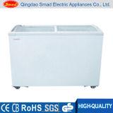 Congelador da caixa do indicador do gelado de porta de vidro de deslizamento