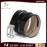 Custom Logo Stylish Auto Buckle Genuine Western Black Leather Belt