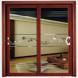 손잡이와 자물쇠를 가진 알루미늄 합금 유리 미닫이 문