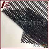 Tessuto 100% di maglia nero del foro del poliestere grande