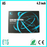 "4.3 "" визитная карточка TFT цифров видео-, видео- визитная карточка"