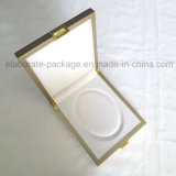 Kundenspezifischer goldenes hölzernes Glockengeläut-Halsketten-Geschenk-verpackenkasten