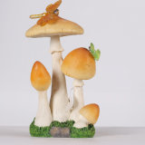 Disegno del fungo della resina della decorazione del giardino con indicatore luminoso solare