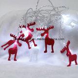 Weihnachtswapiti-Rotwild-sternenklare Zeichenkette beleuchtet die weiße Farbe, die mit 120 einzeln eingehangen geführt, 20FT geführt wird