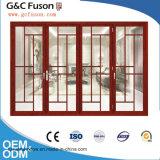 Vetro Bifold di alluminio del portello di piegatura dei portelli del vetro temperato con hardware tedesco