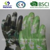 Перчатки сада перчаток безопасности покрынные нитрилом напечатанные (GN901)