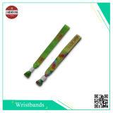 Wristband tecido com estaca do calor ou estaca ultra-sônica