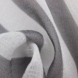 Pano do gráfico da listra e tela plissados poliéster da dobra