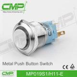 19mmの電気押しボタンスイッチ(ステンレス鋼)