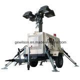 Torretta di illuminazione telescopica idraulica per l'emergenza
