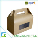 Take Away Plain Kraft Papel Cup Cake Box
