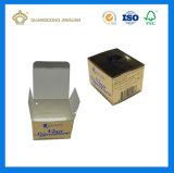 Rectángulos de empaquetado plegables baratos del papel para la crema de cara/la mascarilla (impresión ULTRAVIOLETA de la tarjeta del oro)