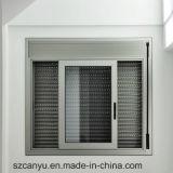 Finestra di scivolamento industriale di alluminio di obbligazione con la griglia di alluminio nera