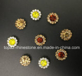 2017 nähen neue und hochwertige der 7mm Kristall-Blumen-Greifer-Einstellung auf Strass Band (runder Kristall der TP-7mm Hyazinthe)