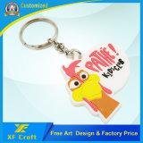 Дешевая подгонянная бирка /Key ключевого кольца промотирования с свободно конструкцией произведения искусства (XF-KC-P33)