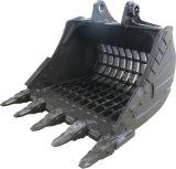 Cubeta da rocha da máquina escavadora de Cat320d com dentes