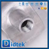 Robinet à tournant sphérique pneumatique de disque de jupe d'isolation thermique de Didtek pour la vapeur