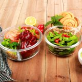Micro-ondes utilisable Boîte à lunch d'aliments contenant de verre 620ml