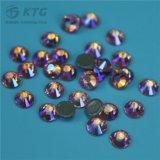 편평한 뒤 돌에 명백한 둥근 철은 최신 고침 모조 다이아몬드를 도매한다