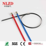 Serre-câble de blocage de bille d'acier inoxydable avec l'enduit noir de couleur de bleu rouge