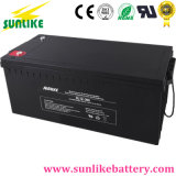 Bateria recarregável de inversor de energia solar de ciclo profundo 12V200ah para UPS